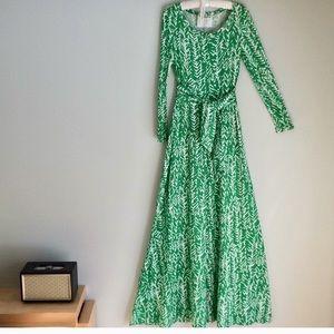 Vintage DVF Diane von Furstenberg 70s maxi dress